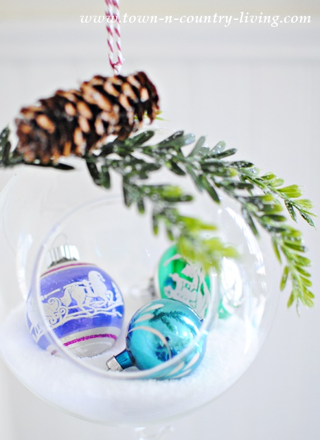 quick and easy diy snow globe ornament