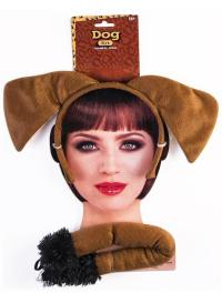 Brown Dog Instant Costume Kit Teen/Adult - ToyHo.com