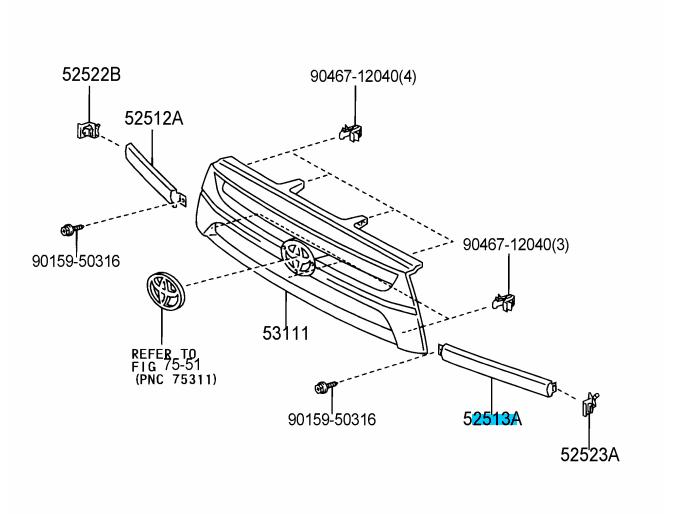 2006 gmc sierra front bumper diagram