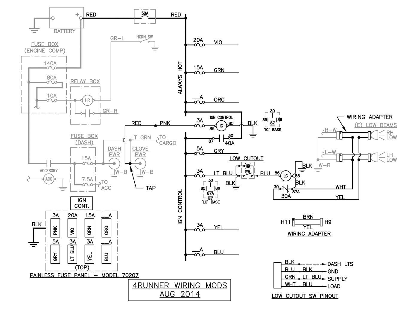 Fog Light Switch Wiring Diagram Auto Electrical Led Ke Toyota 4runner Lights