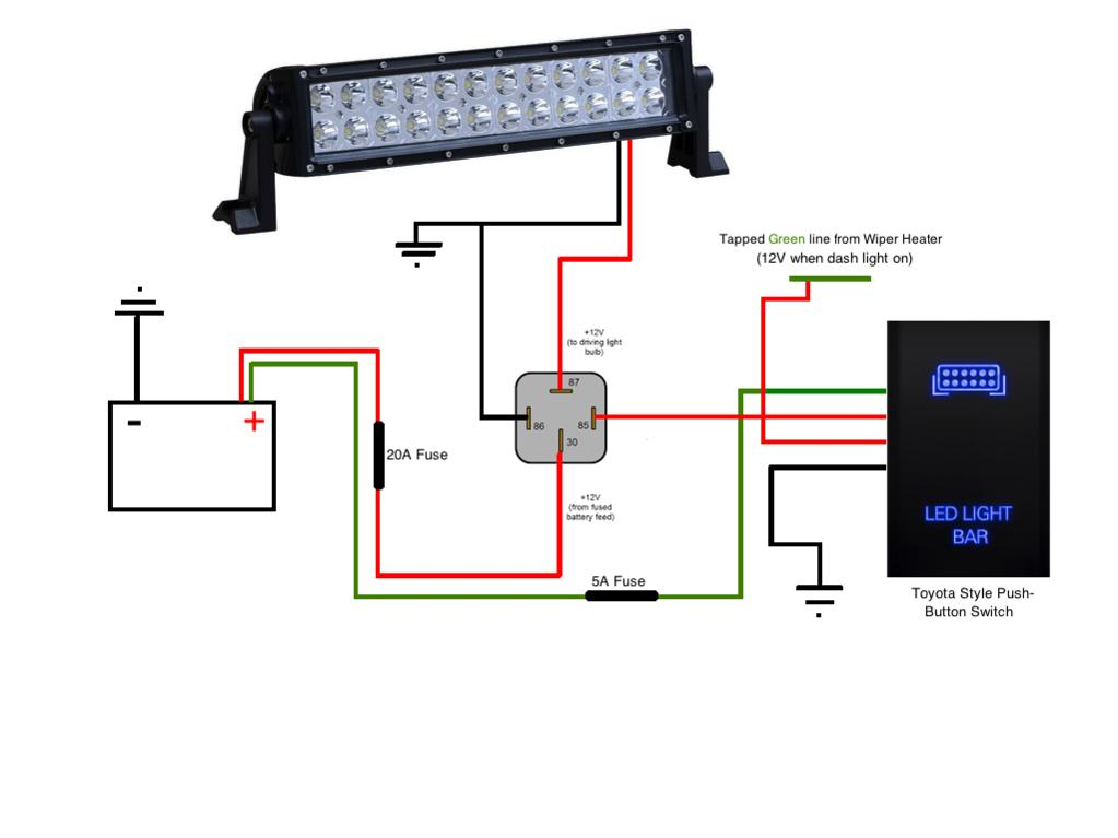 wiring diagram for led light bar with relay
