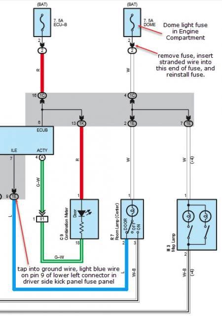Toyota Dome Light Wiring Diagram - Wiring Diagram Third Level