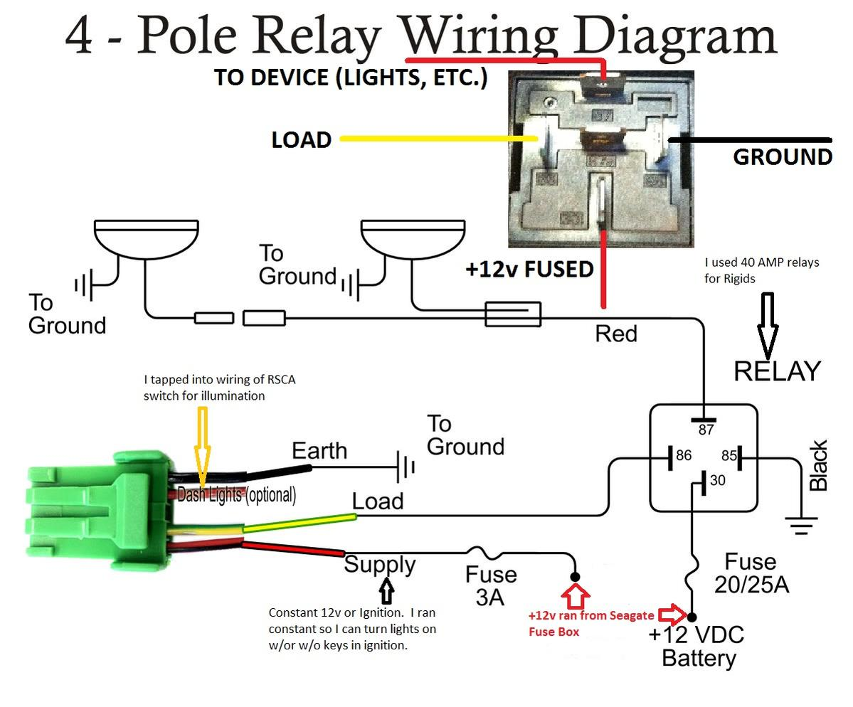 baja tough 5 pole relay wiring diagram