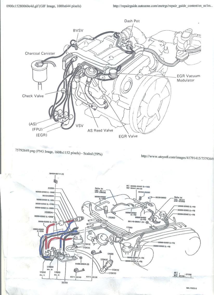 1991 toyota 4runner engine diagram