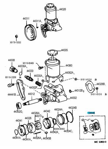 94 toyota 4runner Motor diagram