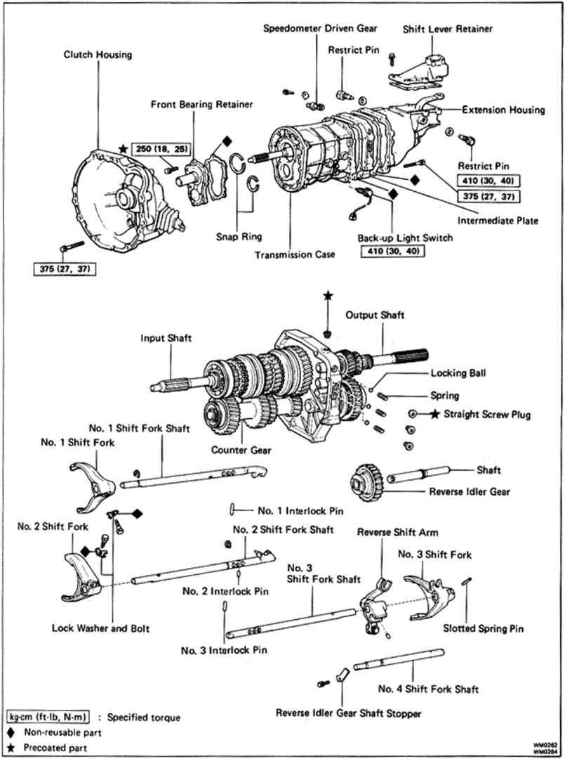94runner manual transmission diagram