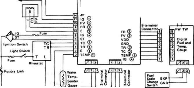 battery meter wiring diagram