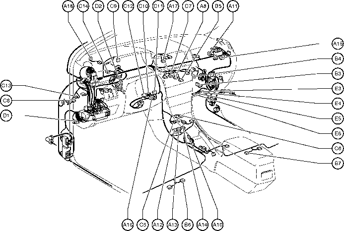 Toyota Avalon Amplifier Wiring Diagram Position Of Parts In Engine Compartment Toyota Corolla