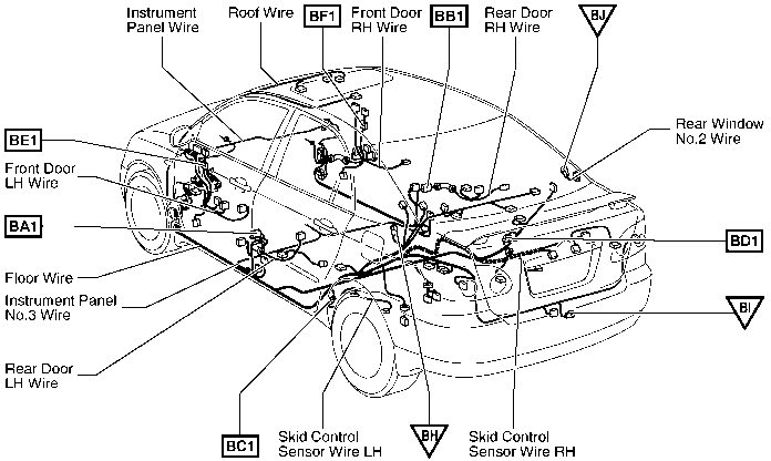 2004 corolla fuel pump relay diagram
