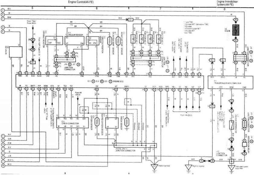 toyota corolla wiring diagram 1997 workshop manual