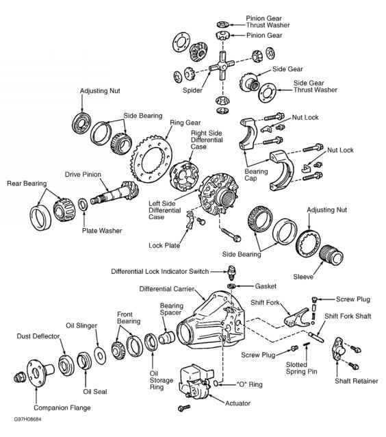 tacoma rear differential diagram