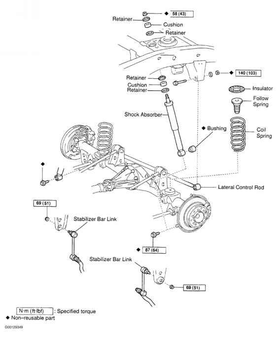2001 toyota corolla rear suspension diagram