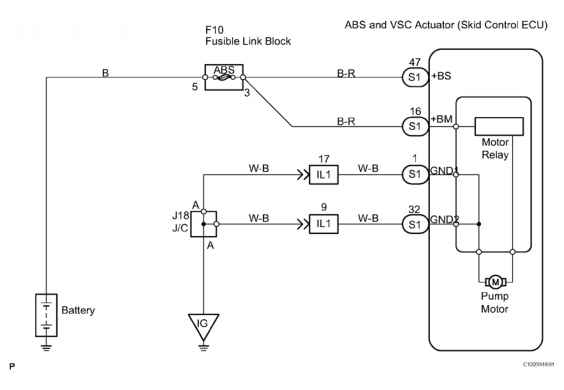 A Replace Abs Traction Actuator Dtc C Open Or Short Circuit In Abs