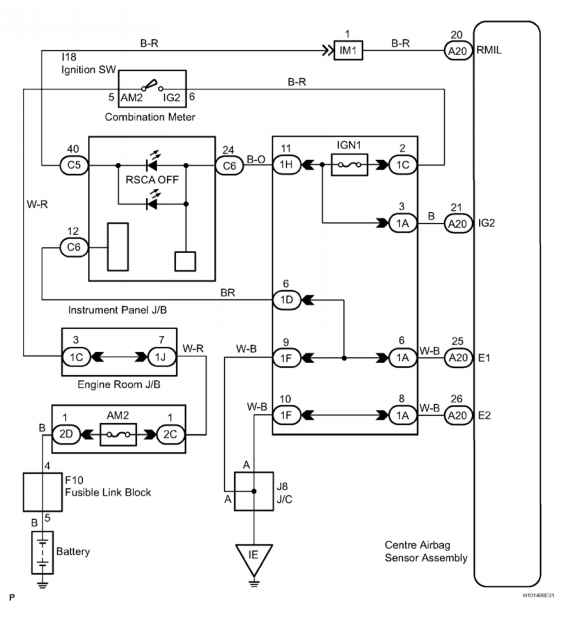 Dtc B Roll Over Cut Off Indicator Malfunction Description - Toyota