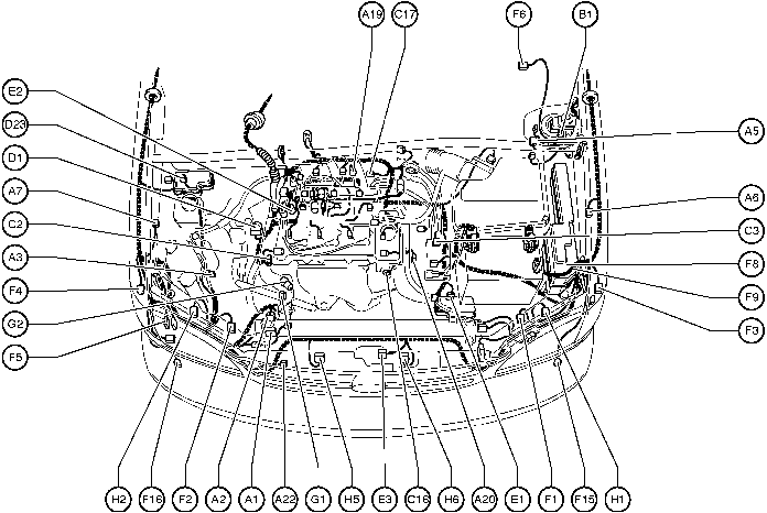 2006 rav4 engine compartment diagram
