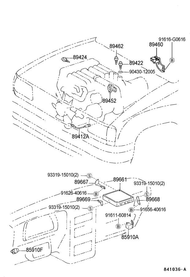 2000 toyota 4runner fuel filter location