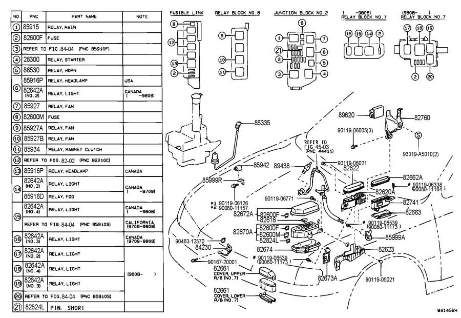 1998 toyota avalon fuse diagram