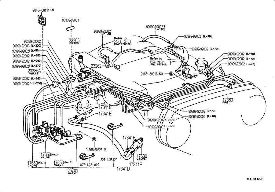 1990 toyota 4runner Motor diagram 3vze
