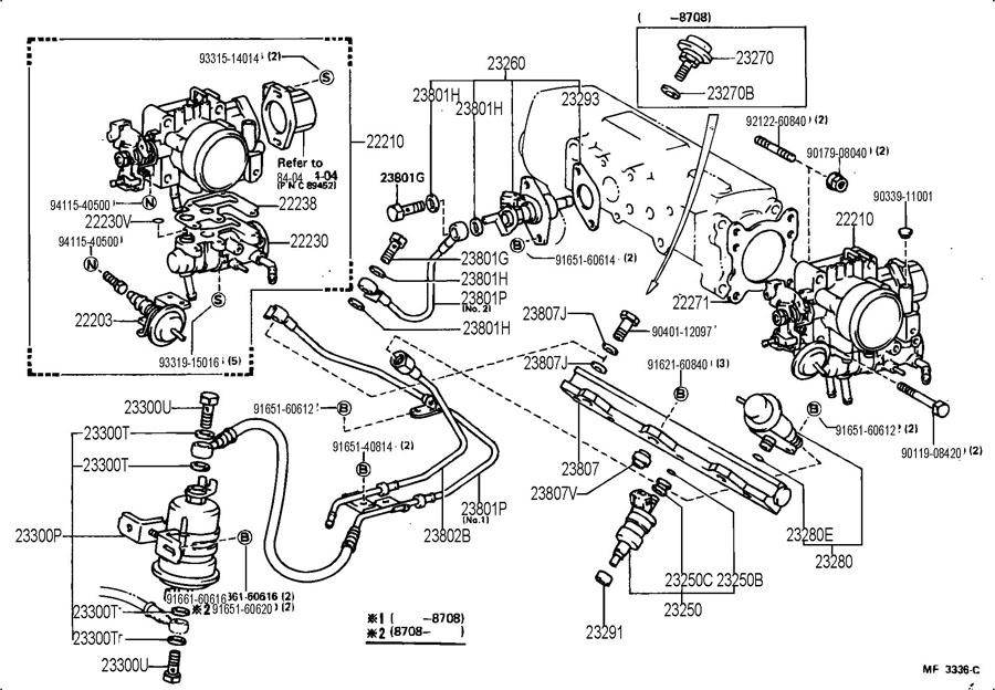 1986 toyota mr2 fuel pump location