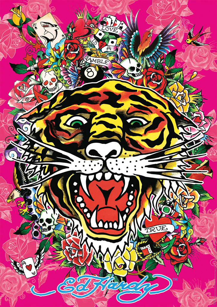 Uf Iphone Wallpaper Ravensburger Puzzle 1000teile Ed Hardy Tattoo Art Toyspiel