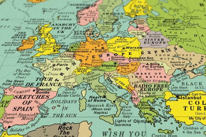 La mappa del mondo in cui ogni luogo è rappresentato da una canzone