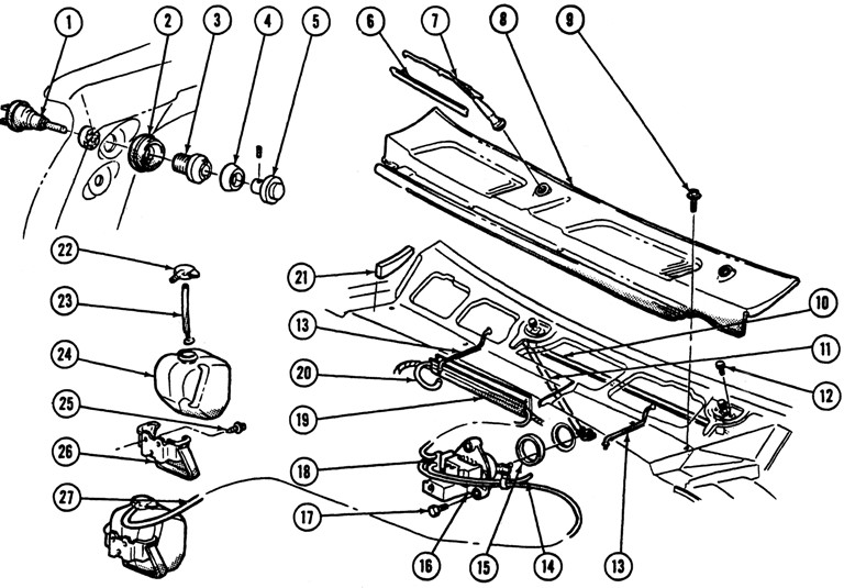 1967 firebird wiring diagram washer