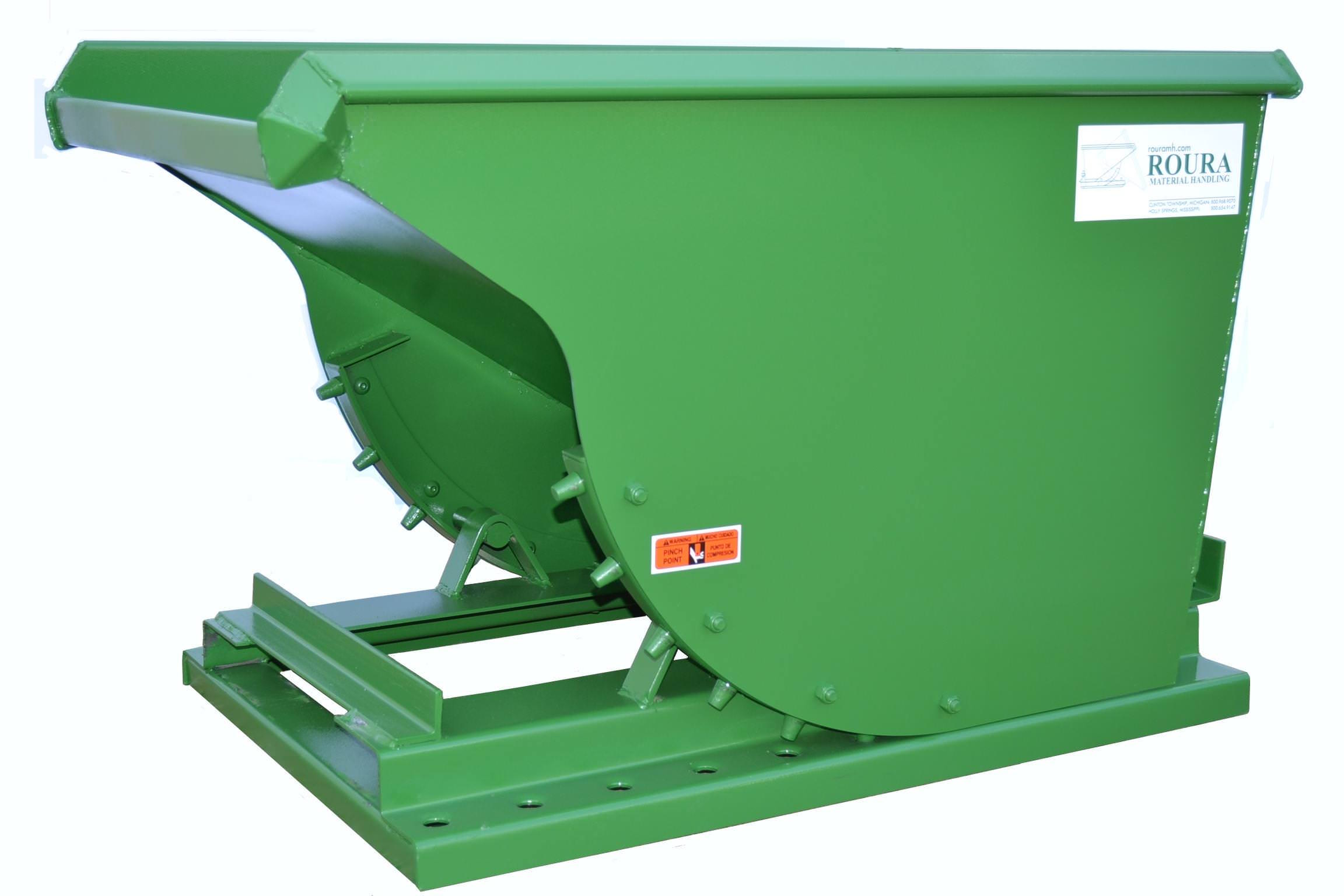 Durable 1 Yd Roura Self Dumping Hopper Tp Supply