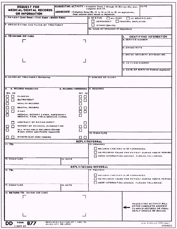 Transfer of the Dental Record - medical records request forms