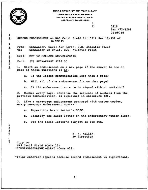 MULTIPLE ADDRESS LETTERS - endorsement letter
