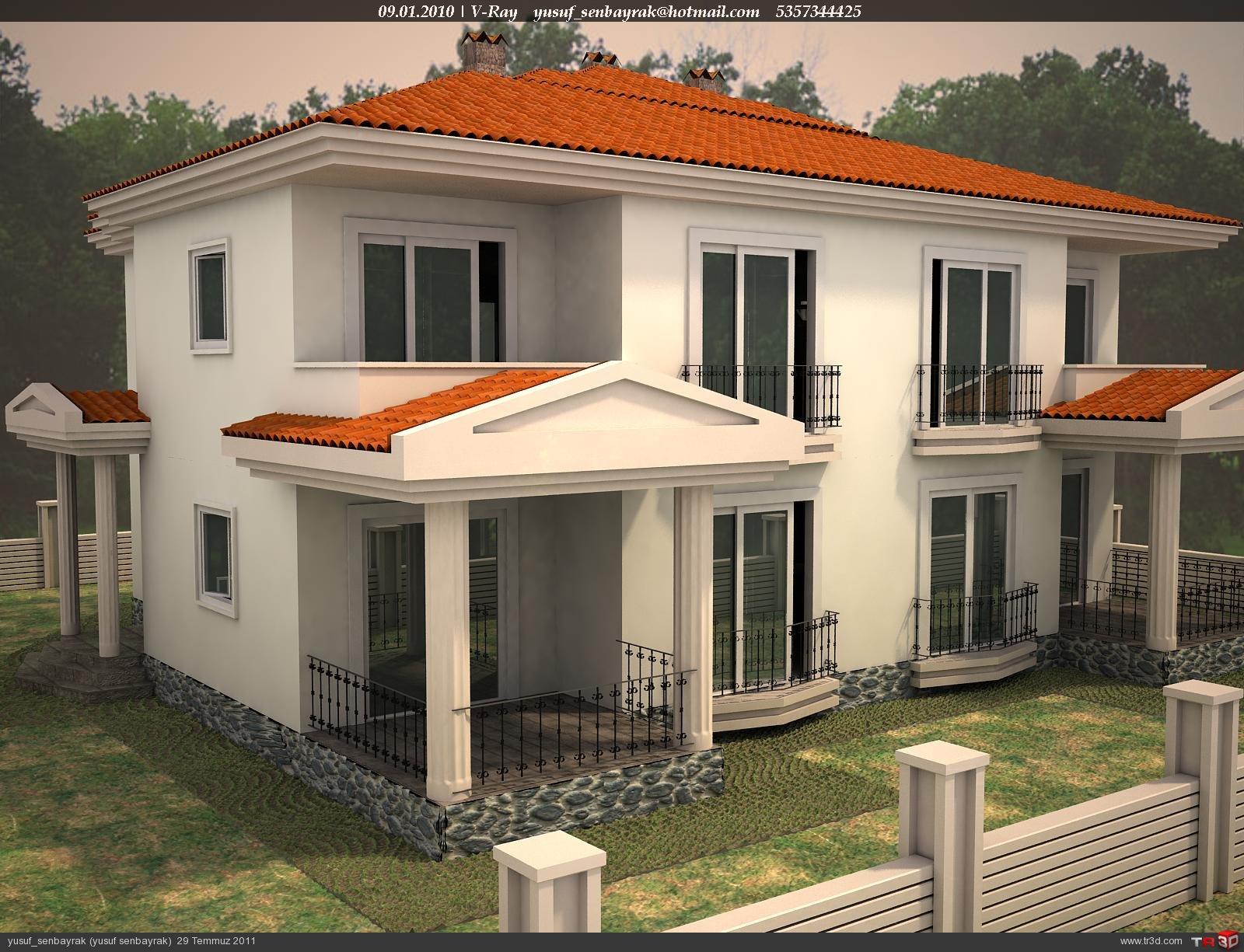 3d Max Wallpaper 3d Max Ev Modeli Mimari Projeler