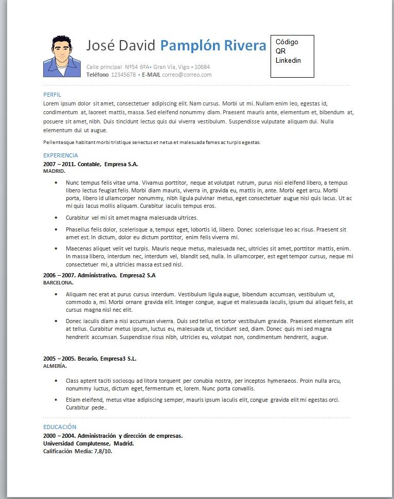 Curriculum Vitae Para Llenar | simpletext.co