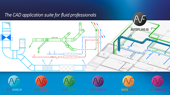 AUTOFLUID CAD software for HVAC and plumbing professionnals