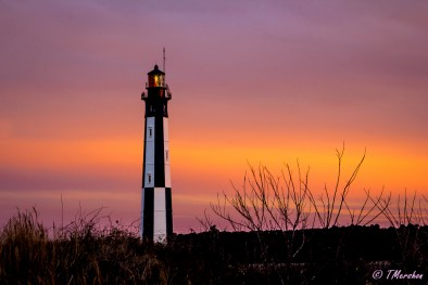 New Cape Henry Lighthouse at Sunset