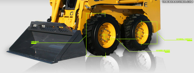 Skid Steer Tire Size Wheelbase Chart Tracks and Tires