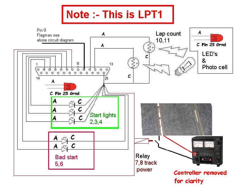 wiring diagram for slot car drag strip
