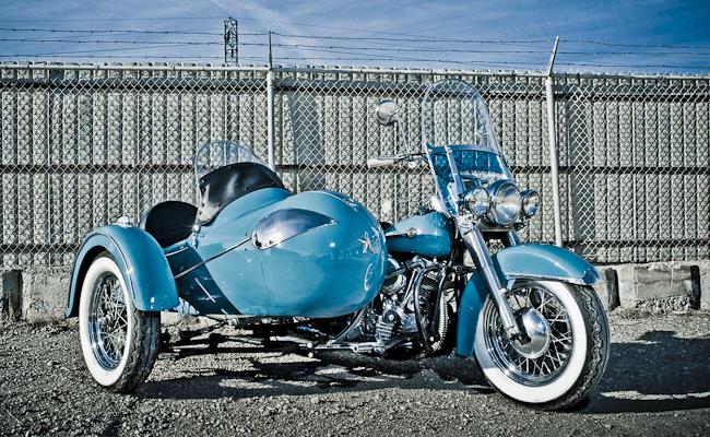 1950 Harley-Davidson Panhead w/Goulding Rocket Sidecar