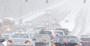 Winter driving mess