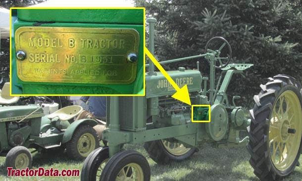 TractorData John Deere B tractor information