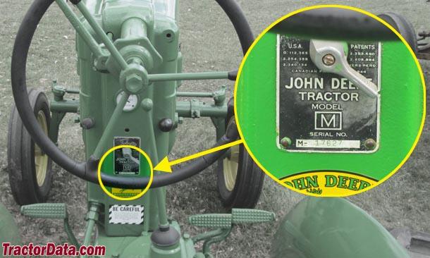 TractorData John Deere M tractor information