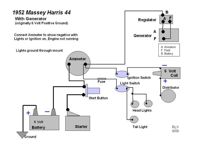 massey harris 50 wiring diagram wiring diagram for a ford n tractor