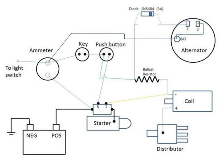 Tractor Generator Wiring Positive Ground Wiring Diagram