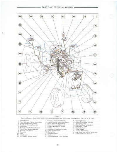 wiring diagram for ford 3600 tractor