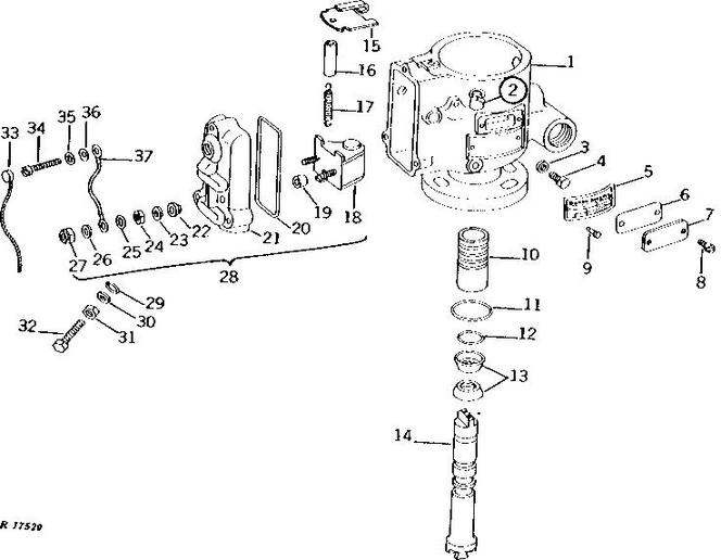 diesel fuel filter assembly for jd tractor
