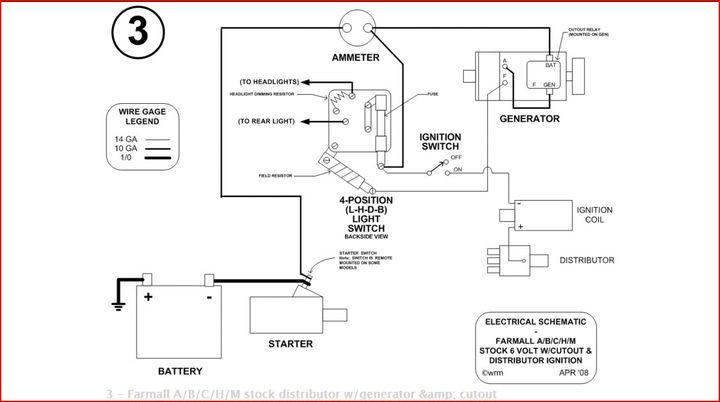 farmall h generator wiring diagram
