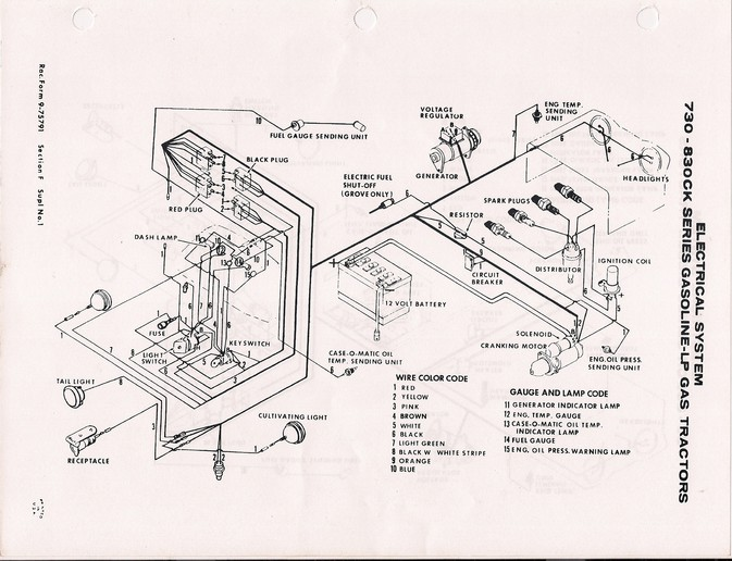 case 1660 wiring diagram