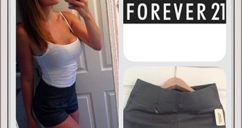 Tracy Kiss Wears Grey Woven Shorts For Forever21