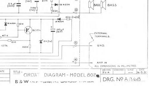 b w 802 bowers wilkins crossover schematic