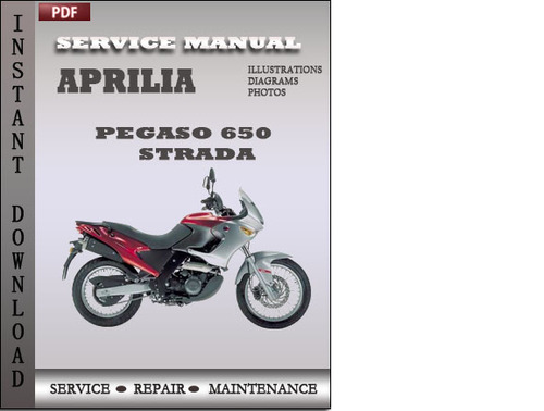 Aprilia Pegaso 650 Strada Trail Factory Service Repair Manual - Dow
