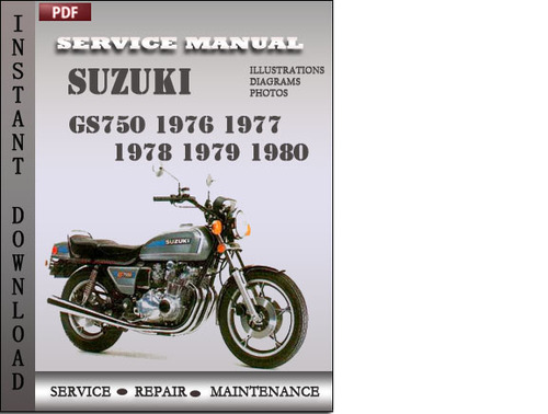 suzuki gs750 1976 factory service repair manual pdf