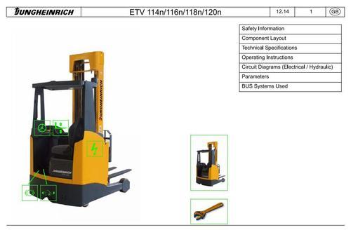 Jungheinrich Electric Reach Truck ETV114N, ETV116N, ETV118N, ETV12